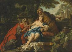 Studio of Jean-François de Troy - Susanna and the elders
