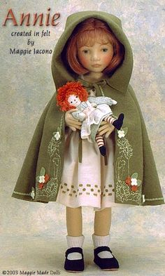Annie 17 Inch Tall Felt Doll Special Limited Edition : 25 Created in 2001