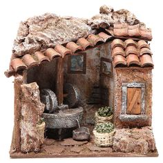 1 million+ Stunning Free Images to Use Anywhere Christmas Nativity Scene, Christmas Home, Mini Doll House, Free To Use Images, Ceramic Houses, Miniature Rooms, Decorative Tile, Le Moulin, Eclectic Decor