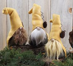 """EDWYRD the Amused ~ Woodland Gnome 7"""" Tall ~ Scandinavian Gnome - Forest Nordic…"""