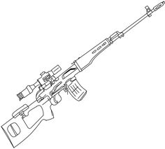 Sniper Nerf Gun Coloring Pages