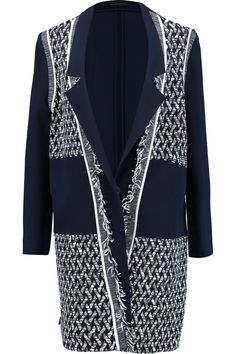 Shop on-sale Roland Mouret Marah bouclé and crepe coat . Browse other discount designer Coats & more on The Most Fashionable Fashion Outlet, THE OUTNET.COM