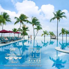 We are so proud to announce that our Azul Fives received the coveted Four Diamond Rating approved by #AAA. Only five percent of more than 28,000 properties Approved by AAA achieve this prestigious distinction!   Congratulations to Mr. Mathieu, our General Manager and the entire team of #AzulFives for this great achievement!   #KarismaExperience #FourDiamondAward #RivieraMaya