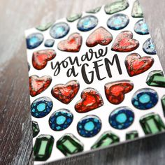 EASY MARKER COLORING – You're a Gem Card with Neat & Tangled Stamps – kwernerdesign blog