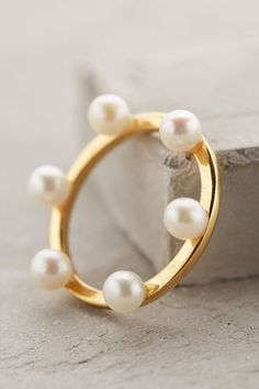 Pearl Diadem Ring - anthropologie.com