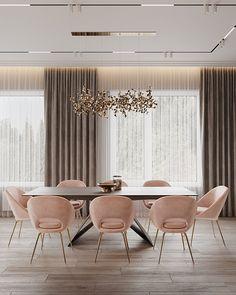 Enhance Your Senses With Luxury Home Decor Home Room Design, Dining Room Design, Home Interior Design, House Design, Dining Area, Dining Chairs, Elegant Dining Room, Luxury Dining Room, Home Living Room