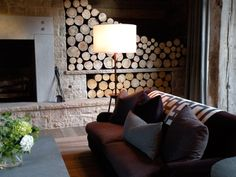 If you're going to have a fireplace, THIS is how to store your wood!