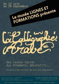 Affiche de l'exposition La calligraphie arabe