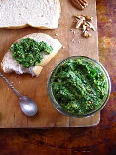 Spinach Pesto    6 oz fresh baby  spinach  1 cup basil leaves  1 cup toasted pecans  1 shallot clove, chopped  1/2 cup Parmesan cheese, finely grated  1/2 cup Star Garlic Olive Oil  1 teaspoon coarse salt
