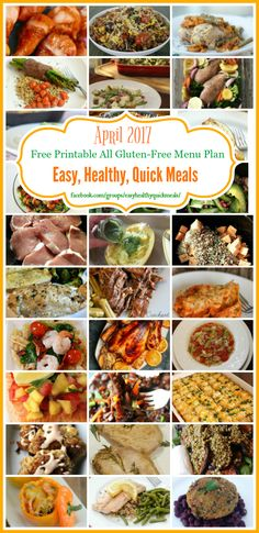 Gluten-Free Meal Plan - A month of quick and easy gluten-free meal options for your family. Each of the dinner recipe is naturally gluten-free, so you don't have to buy special ingredients to make them.
