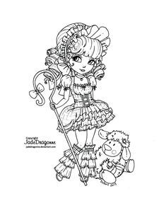 """-Traditionnal art - Ink - Coloring reference for this lineart: If you would like to color my lineart... 1. Please take the time to check the """"READ ME - Please follow the rules!"""" box on my profile. ..."""