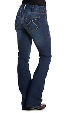 Ariat Women's REAL Hannah Medium Wash Boot Cut Jeans | Cavender's Country Wear, Wear Test, Got The Look, Pocket Detail, Cut Jeans, Real Women, Stretch Denim, What To Wear, Relax