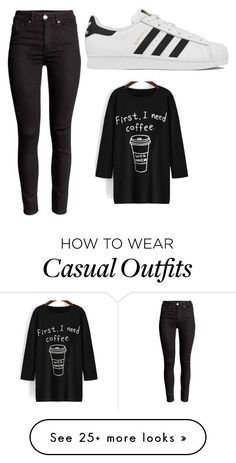 """""""Casual"""" by padme-lyf on Polyvore featuring adidas, women's clothing, women, female, woman, misses and juniors"""