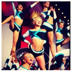 Cheer Extreme, senior elite! I love Maddie in the background mading the : I have a world ring :) !