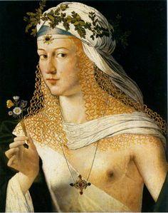 Bartolomeo Veneto. Ritratto di Giovanna Tornabuoni?
