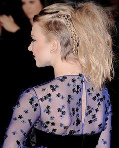 Natalie Dormer undercut ponytail