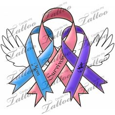 Lung Cancer Symbol Tattoos | Lung Cancer Ribbon Tattoo Designs