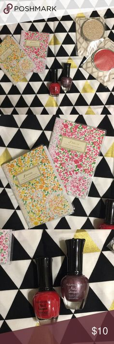 2- mini notebooks, nail polish, compact mirrors Offers welcomed! Makeup