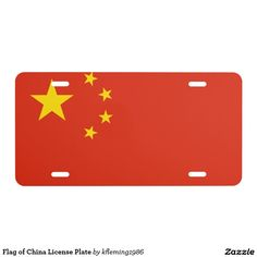 Flag of China License Plate
