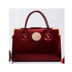 MSMO High quality handmade diamond women bag patent leather handbag female shoulder bag black messenger bag red street tote