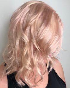 Champagne rose pink blonde hair color by Aveda Artist Haley Pirkle. - Hair & Beauty - Champagne rose pink blonde hair color by Aveda Artist Haley Pirkle. Pink Grey Hair, Gold Blonde Hair, Champagne Blonde Hair, Hair Color Pink, Blonde Color, Ombre Hair, Hair Dye, Blonde Brunette, Rose Blonde