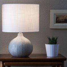 $34.99 Herringbone Ceramic Table Lamp - Gray - Threshold™ : Target