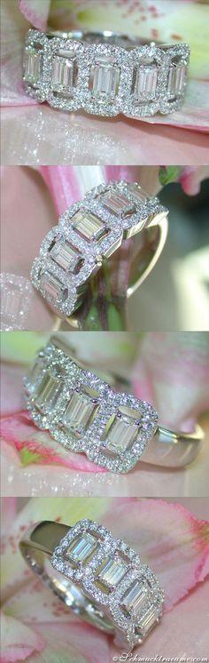 Picture Perfect Diamond Band | Bildschöner Band Ring mit Diamanten | 1.40 ct. G VS/VVS | Whitegold 18k - schmucktraeume.com Like: https://www.facebook.com/Noble-Juwelen-150871984924926/