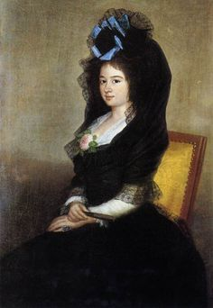 mantilla Dona Narcisa Baranana de Goicoechea by Francisco Goya, 1810