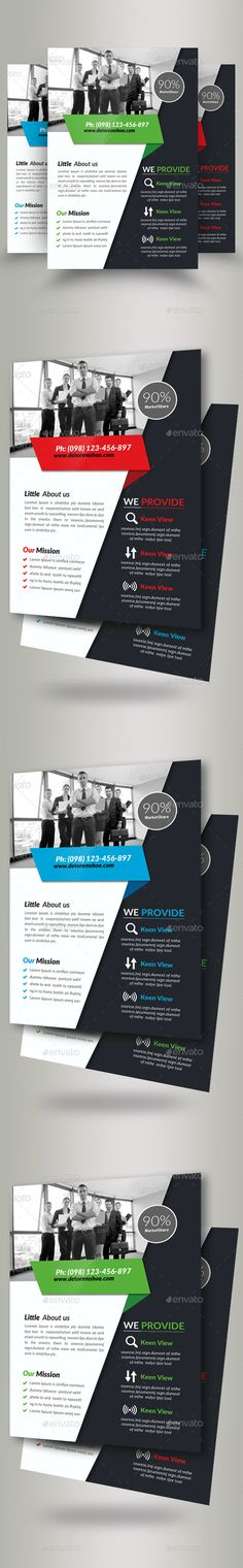 Airsines -Corporate Flyer Template Qr codes, Flyer template and - corporate flyer template
