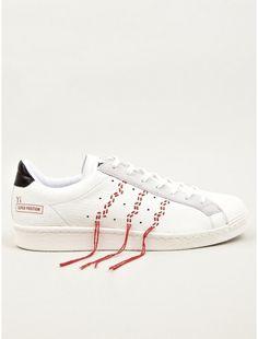 adidas Originals x Y's Men's White Super Position Sneakers   oki-ni
