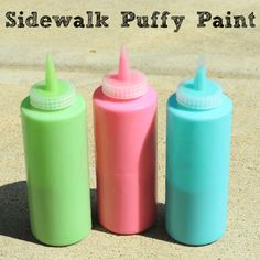 Sidewalk Puffy Paint. A summer art activity for kids!