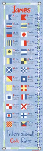 Nautical Flags Growth Chart