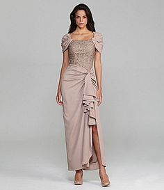 Patra Chiffon Lace Gown | Dillards.com