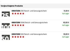 Mediamarkt: 60 Euro Gourmet-Rabatt bei Kreutzers via Gutschein https://www.discountfan.de/artikel/essen_und_trinken/mediamarkt-60-euro-gourmet-rabatt-bei-kreutzers-via-gutschein.php Bei Mediamarkt.de ist derzeit ein Kreutzers-Gutschein in Höhe von 100 Euro für nur 40 Euro frei Haus zu haben – Discountfans erhalten somit 60 Euro Rabatt auf Spezialitäten des Gourmet-Shops. Mediamarkt: 60 Euro Gourmet-Rabatt bei Kreutzers via Gutschein (Bild: Mediamarkt.de) Um an den