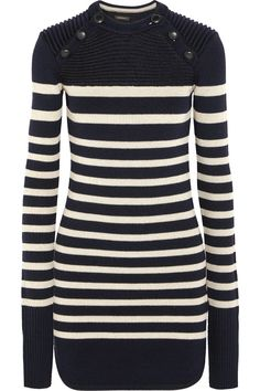 Isabel Marant | Haeza striped merino wool-blend mini sweater dress | NET-A-PORTER.COM