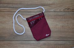 points pattern with dark red imitation leather