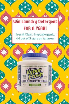It's about that time of year again! We're giving away a ONE YEAR SUPPLY of Vapor Fresh Laundry Detergent!  Vapor Fresh Laundry Detergent is the only free & clear hypoallergenic everyday laundry detergent that can make your favorite workout clothes smell, look and feel like new again. https://gleam.io/ktEhi/2015-laundry-detergent-for-a-year-giveaway