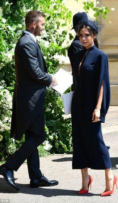 Victoria Beckham leaves with her husband David Beckham...