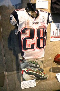 Game-used artifacts from Patriots Super Bowl LI Championship Season now on display at The Hall at Patriot Place presented by Raytheon New England Patriots Football, New England Patriots Merchandise, James White, Patriotic Outfit, Julian Edelman, White Jersey, Tom Brady, American Football