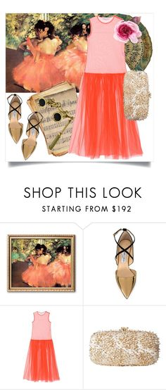 """""""Ballet Evening"""" by capricat ❤ liked on Polyvore featuring Jimmy Choo, STELLA McCARTNEY, Oscar de la Renta and Gucci"""