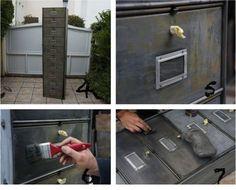 rénover un meuble métallique