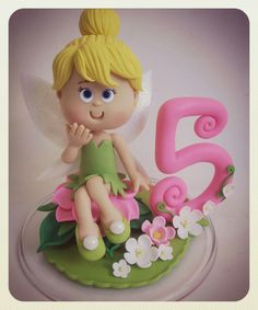 Topo de bolo Tinkerbell Caketopper Tinkerbell Doces Ideias Biscuit rvanpontes@yahoo.com.br @Revanzan