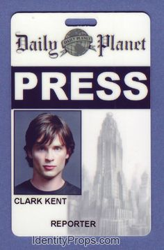 Smallville Superman daily planet press pass clark kent Id Card | Flickr - Photo Sharing!