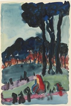 Georgia O'Keeffe - THE PARK AT NIGHT - 1918