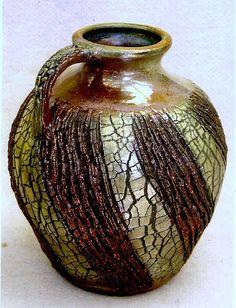 M.Wein Rustic texture Raku urn