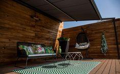 Pergola For Small Backyard Privacy Wall On Deck, Privacy Walls, Deck With Pergola, Pergola Shade, Outdoor Sofa, Outdoor Furniture, Outdoor Decor, Pergola Curtains, Fabric Panels