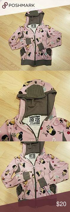 HARAJUKU PINK SWEATSHIRT HOODIE SIZE 14 With pockets and hood Harajuku Lovers Shirts & Tops Sweatshirts & Hoodies