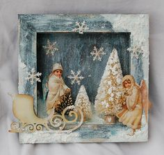 Calico-crafts-shadow-box-snowtext-german-scraps-christmas-glamourdust-sledge-5.jpg 709×673 pixels
