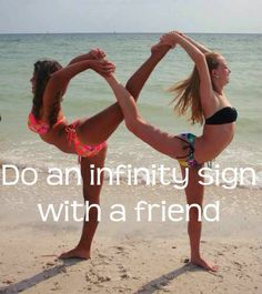 Infinity sign with legs