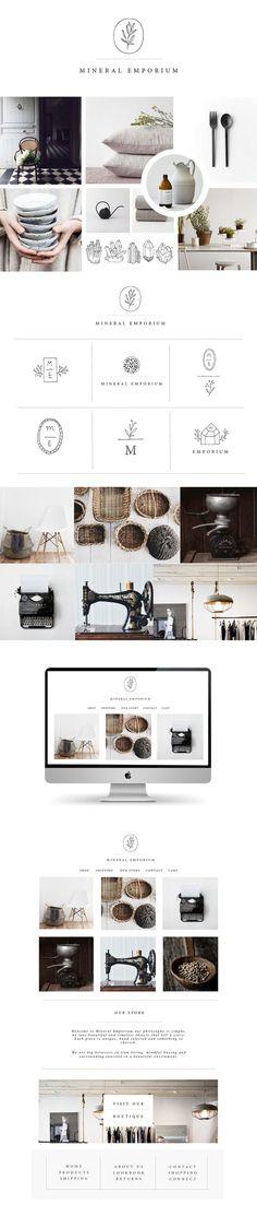 Branding / Web / Brand / Design / Ideas / Inspiration / Ryn Frank / Botanical / Handmade / Handdraw / Line Art / Interior / Home / Decor / Shop / Minimalist / Earth Tone / Cozy